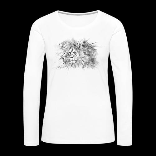 Le roi le seigneur des animaux sauvages - T-shirt manches longues Premium Femme