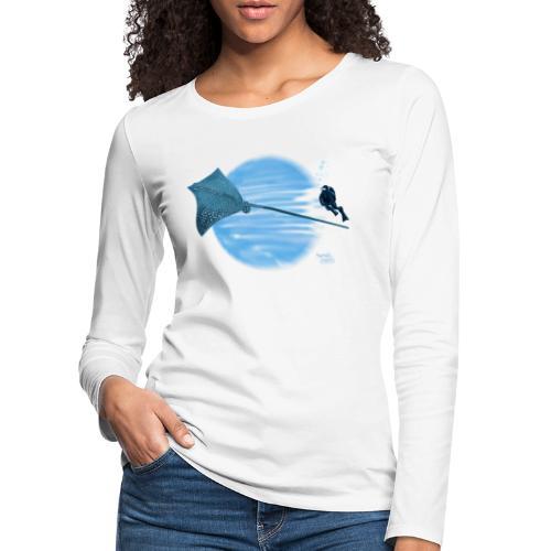 Pijlstaart rog - T-shirt manches longues Premium Femme