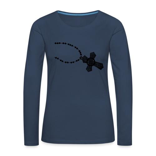 kruis 2 png - Vrouwen Premium shirt met lange mouwen