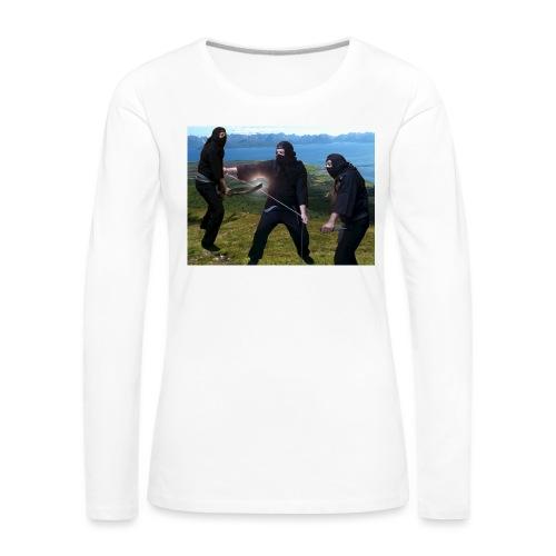 Chasvag ninja - Premium langermet T-skjorte for kvinner