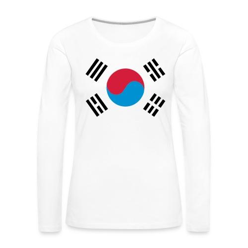 South Korea - Vrouwen Premium shirt met lange mouwen