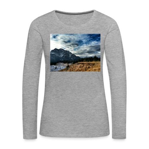 Wolkenband - Frauen Premium Langarmshirt