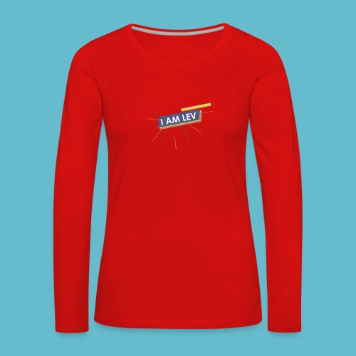 I AM LEV Banner - Vrouwen Premium shirt met lange mouwen