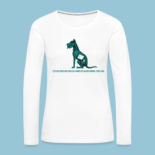 T-shirt pour homme imprimé Chien au Rayon-X - T-shirt manches longues Premium Femme
