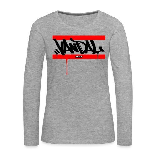 #EASY Graffiti Vandal T-Shirt - Maglietta Premium a manica lunga da donna