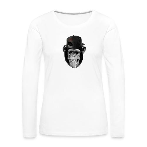 Logo Crazy Monkey - Maglietta Premium a manica lunga da donna