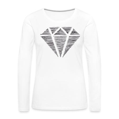 Diamante - Camiseta de manga larga premium mujer