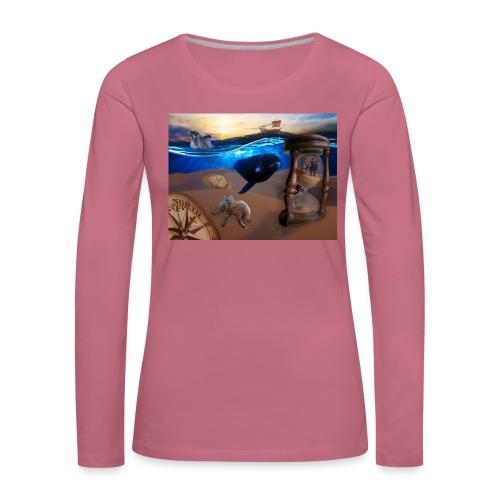 Wodne Przemyślenia - Koszulka damska Premium z długim rękawem
