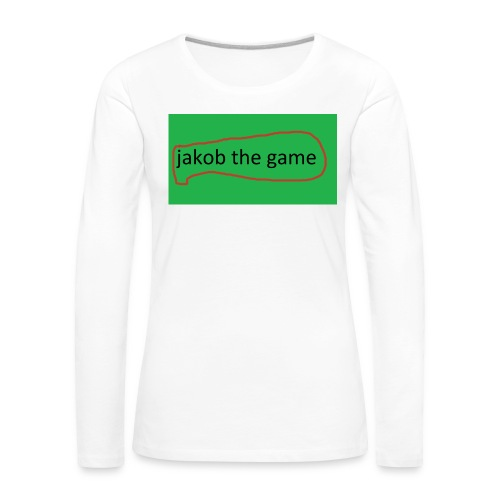 jakob the game - Dame premium T-shirt med lange ærmer