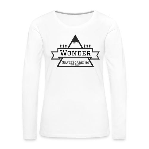 Wonder T-shirt: mountain logo - Dame premium T-shirt med lange ærmer