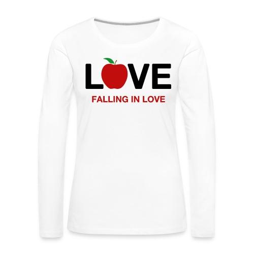 Falling in Love - Black - Women's Premium Longsleeve Shirt