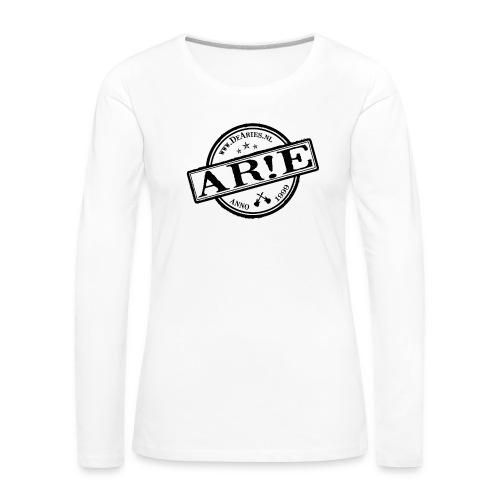 Backdrop AR E stempel zwart gif - Vrouwen Premium shirt met lange mouwen