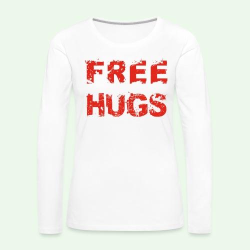 Free Hugs // Flirten // T-Shirt - Frauen Premium Langarmshirt