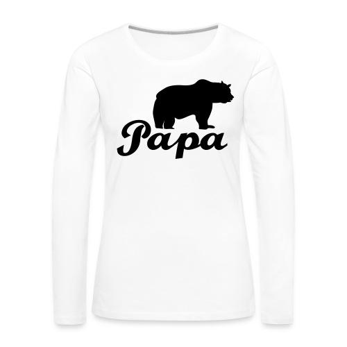 papa beer - Vrouwen Premium shirt met lange mouwen