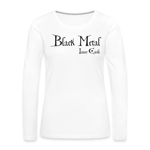 black metal Inner Circle, black ink - Women's Premium Longsleeve Shirt