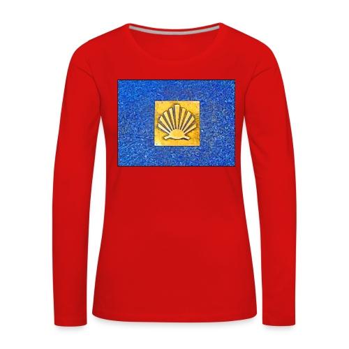 Scallop Shell Camino de Santiago - Women's Premium Longsleeve Shirt
