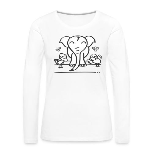 78 elephant - Frauen Premium Langarmshirt