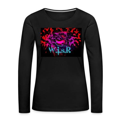 WisR Naisten T- Paita - Naisten premium pitkähihainen t-paita
