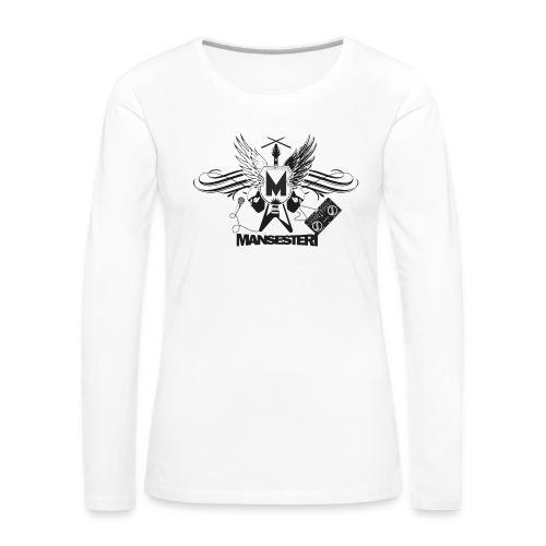 Mansesteri T-paita - Naisten premium pitkähihainen t-paita