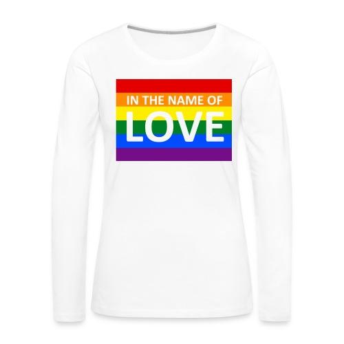 IN THE NAME OF LOVE RETRO T-SHIRT - Dame premium T-shirt med lange ærmer