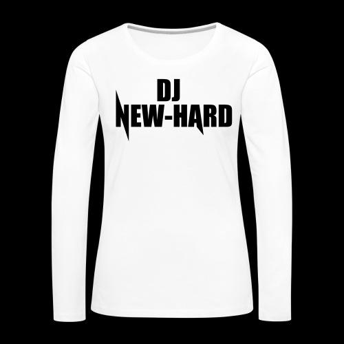 DJ NEW-HARD LOGO - Vrouwen Premium shirt met lange mouwen