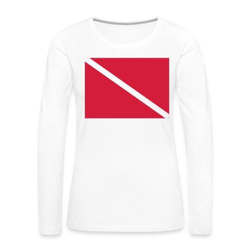Diver Flag - Women's Premium Longsleeve Shirt