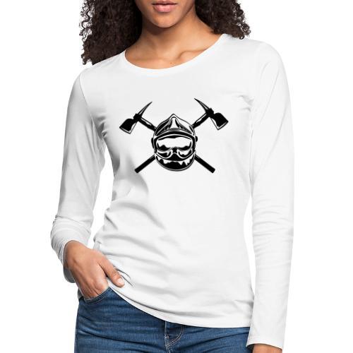 casque_pompier_2 haches - T-shirt manches longues Premium Femme