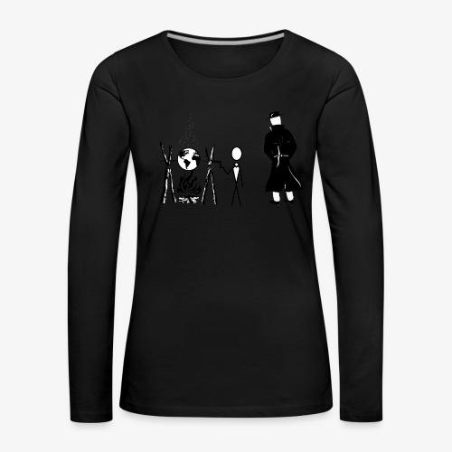 Pissing Man against human self-destruction - Frauen Premium Langarmshirt