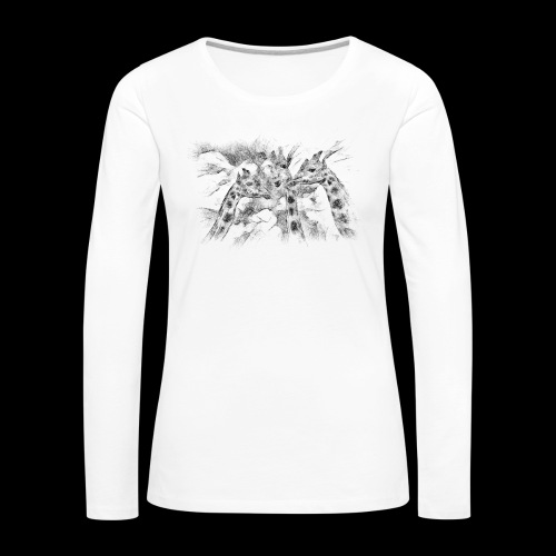 les girafes bavardes - T-shirt manches longues Premium Femme