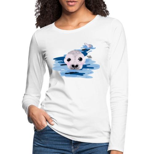 Lieve otter - T-shirt manches longues Premium Femme