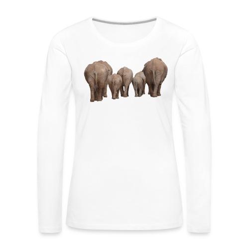 elephant 1049840 - Maglietta Premium a manica lunga da donna
