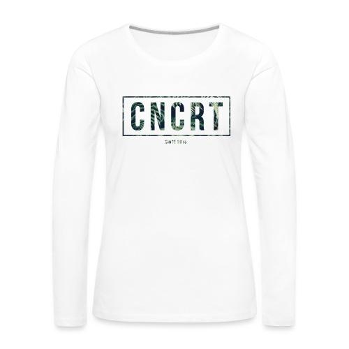 CNCRT white shirt (Plant Print) - Vrouwen Premium shirt met lange mouwen