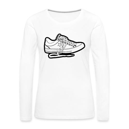 Sneaker - Långärmad premium-T-shirt dam