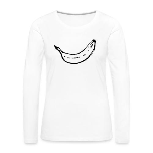 banana-2 - Långärmad premium-T-shirt dam