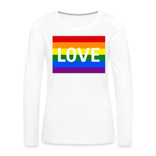 LOVE SHIRT - Dame premium T-shirt med lange ærmer