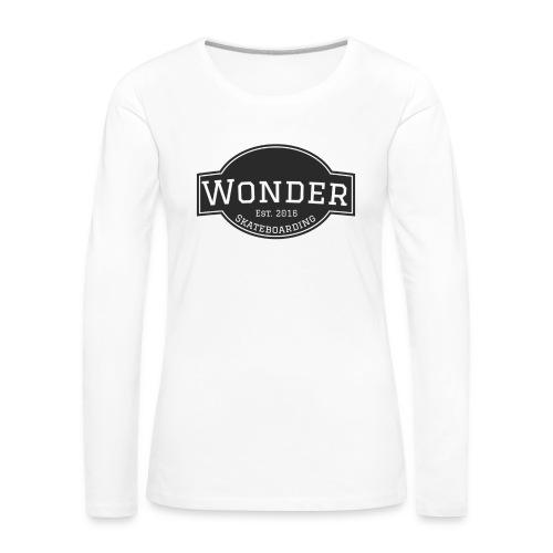 Wonder T-shirt - ol' small logo - Dame premium T-shirt med lange ærmer