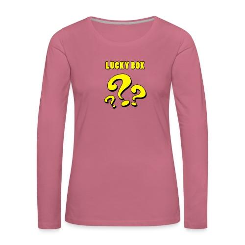 Lucky Box - Långärmad premium-T-shirt dam