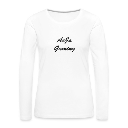 ae - Naisten premium pitkähihainen t-paita