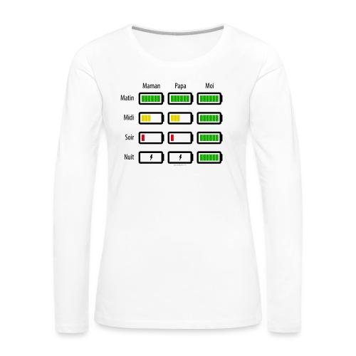 Low battery ! - T-shirt manches longues Premium Femme