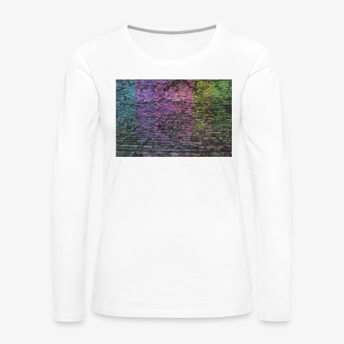 Regenbogenwand - Frauen Premium Langarmshirt
