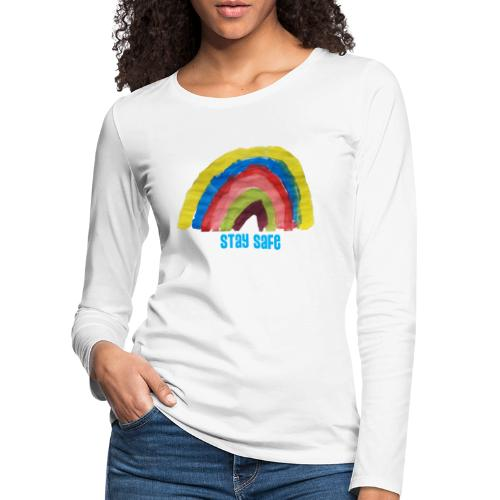 Stay Safe Rainbow Tshirt - Women's Premium Longsleeve Shirt