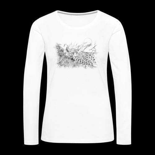 La panthère dans l'arbre - T-shirt manches longues Premium Femme