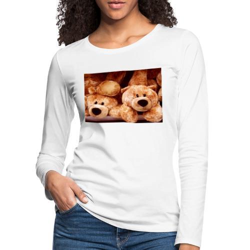 Glücksbären - Frauen Premium Langarmshirt