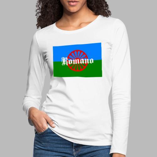 Flag of the Romanilenny people svg - Långärmad premium-T-shirt dam