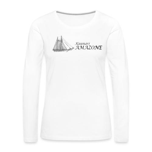 vessel-png - Naisten premium pitkähihainen t-paita
