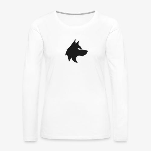 La mejor mirada del lobo - Camiseta de manga larga premium mujer