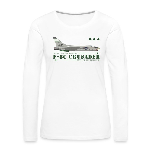 F-8C Crusader VMF-333 - Women's Premium Longsleeve Shirt