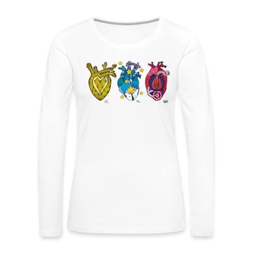 Corazones Prestados - Camiseta de manga larga premium mujer