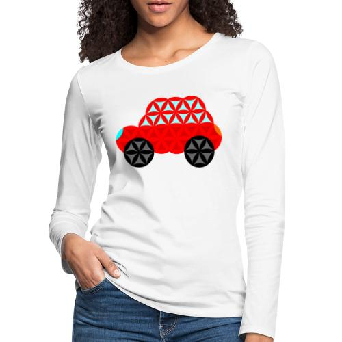 The Car Of Life - M01, Sacred Shapes, Red/R01. - Women's Premium Longsleeve Shirt