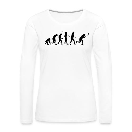 Floorball Evolution Black - Frauen Premium Langarmshirt